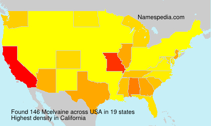 Surname Mcelvaine in USA