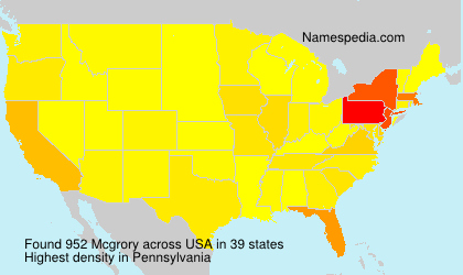Surname Mcgrory in USA