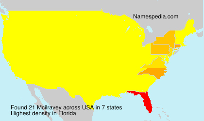 Surname Mcilravey in USA