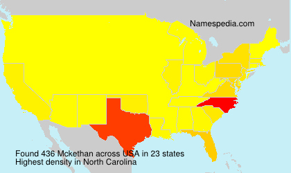 Surname Mckethan in USA
