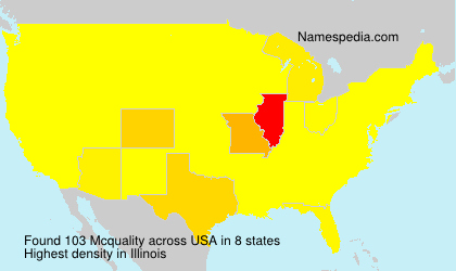 Surname Mcquality in USA
