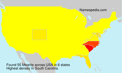 Surname Mearite in USA