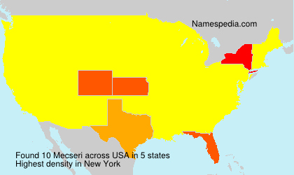 Surname Mecseri in USA
