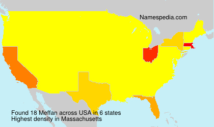 Surname Meffan in USA