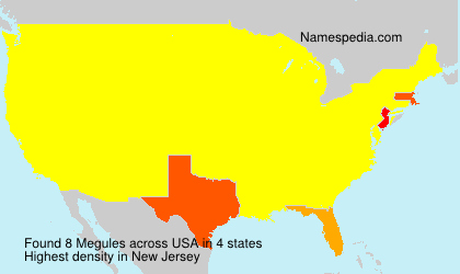 Surname Megules in USA