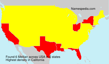 Surname Meilian in USA