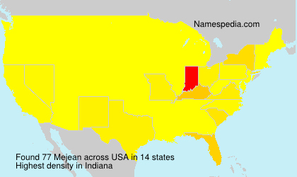 Surname Mejean in USA