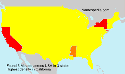 Surname Melado in USA