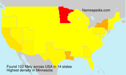 Surname Mely in USA