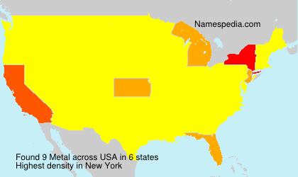Surname Metal in USA