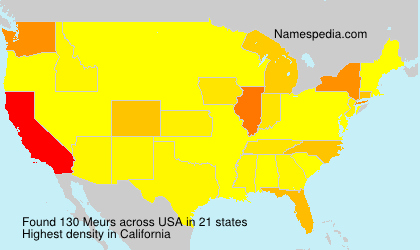 Surname Meurs in USA