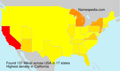 Surname Mikail in USA