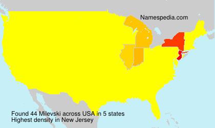Surname Milevski in USA