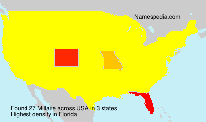 Surname Millaire in USA