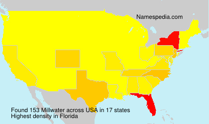 Surname Millwater in USA
