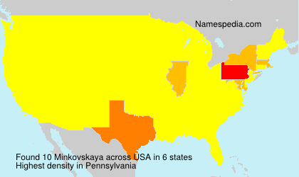 Surname Minkovskaya in USA