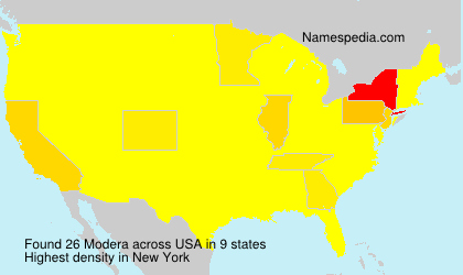 Surname Modera in USA