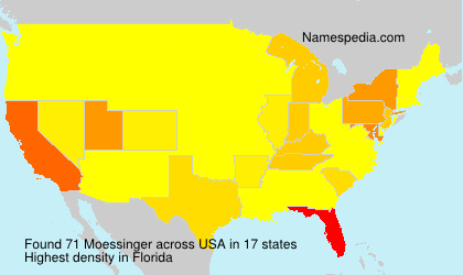 Surname Moessinger in USA