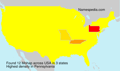 Surname Mohap in USA