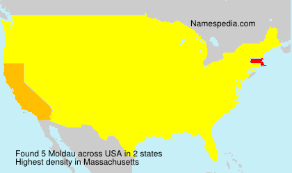 Surname Moldau in USA