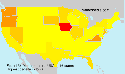 Surname Monner in USA