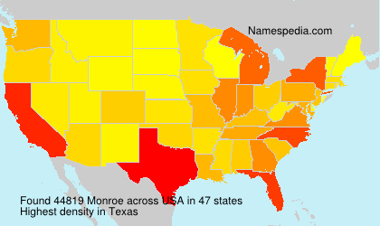 Surname Monroe in USA