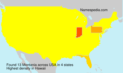 Surname Montania in USA