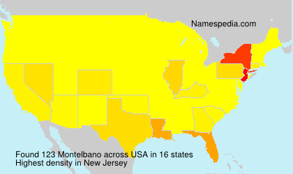 Surname Montelbano in USA