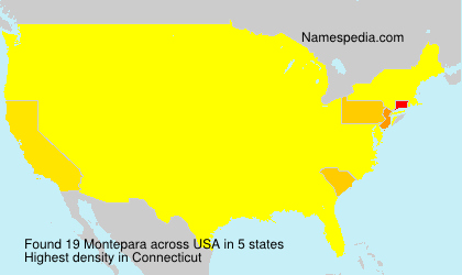 Surname Montepara in USA
