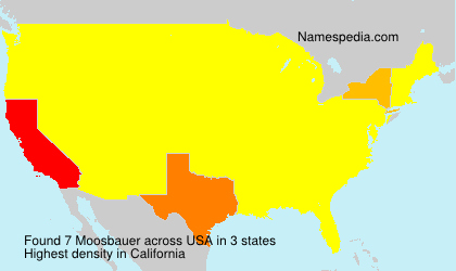 Surname Moosbauer in USA