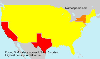 Familiennamen Moralese - USA