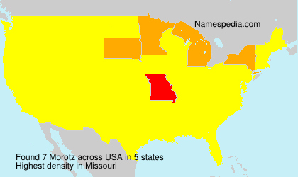 Surname Morotz in USA