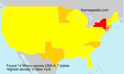 Surname Morou in USA