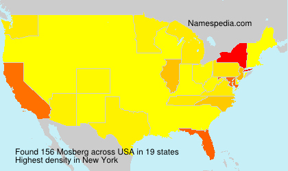 Surname Mosberg in USA