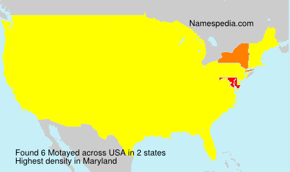 Surname Motayed in USA