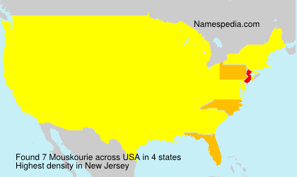 Surname Mouskourie in USA