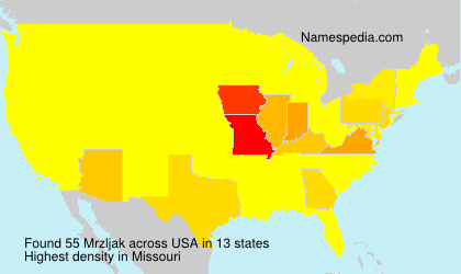 Surname Mrzljak in USA