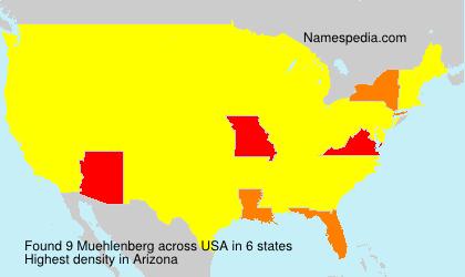 Familiennamen Muehlenberg - USA