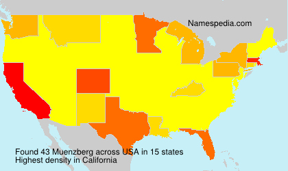 Surname Muenzberg in USA