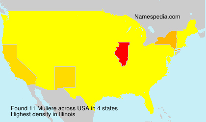 Surname Muliere in USA
