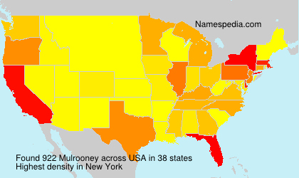 Surname Mulrooney in USA