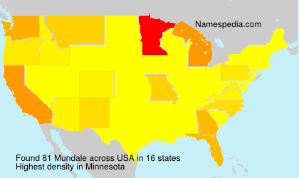Surname Mundale in USA