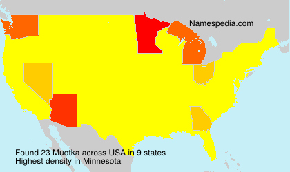 Surname Muotka in USA