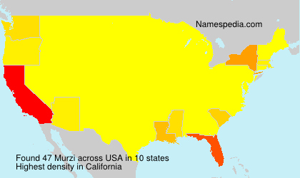 Surname Murzi in USA