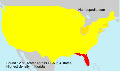 Surname Muschter in USA