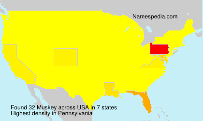Surname Muskey in USA