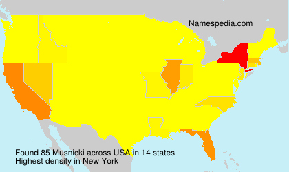 Surname Musnicki in USA