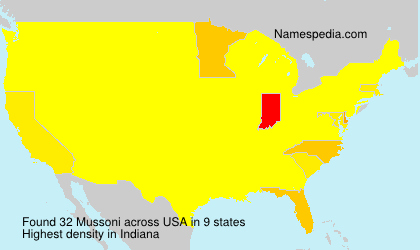 Surname Mussoni in USA