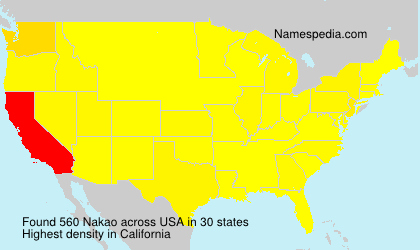 Surname Nakao in USA