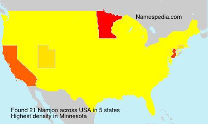 Familiennamen Namjoo - USA